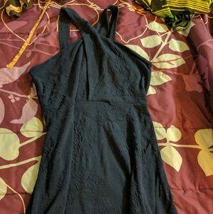 Navy Criss Cross Strap Dress